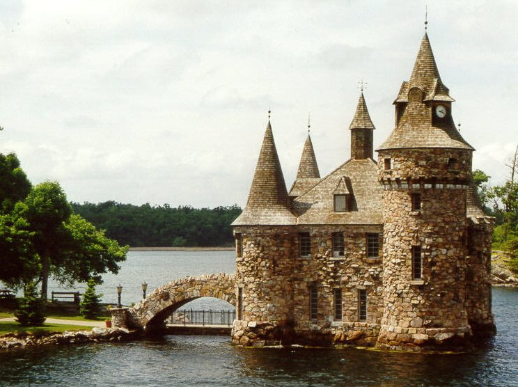 Not a house at all, merely the generator room for Boldt Castle on one of the most spectacular islands