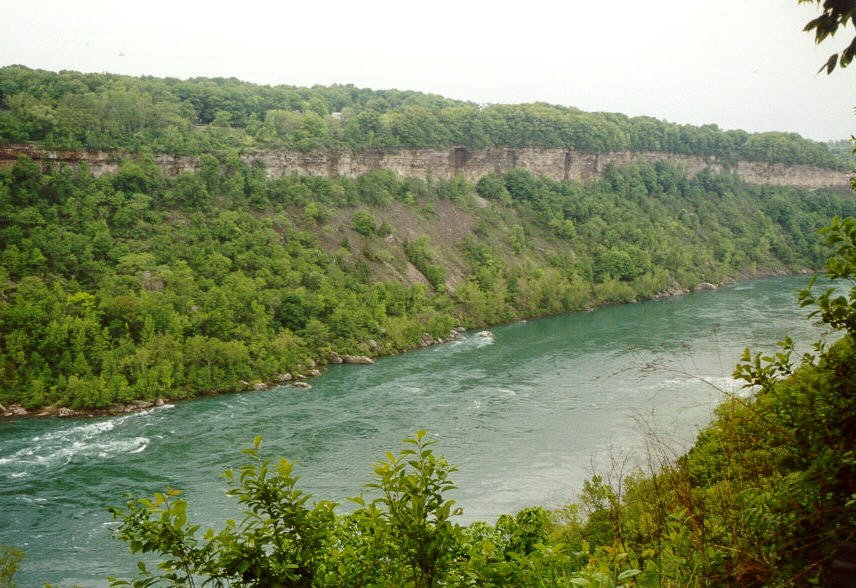 The gorge below Niagara Falls