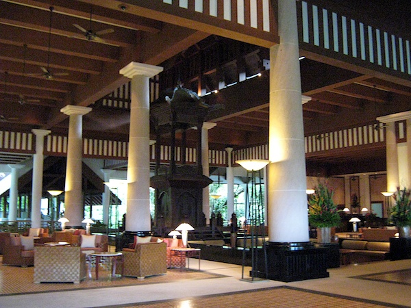 The awe-inspiring lobby of the Andaman