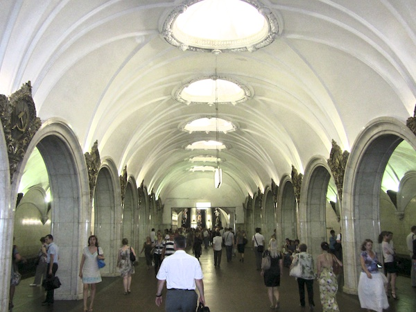Eat your heart out, London Transport! Stalin's Metro in Moscow.