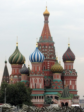 St Basil's, at the other end of Red Square