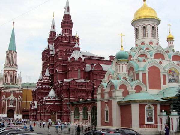 The cathedrals of Red Square are really incredible confections