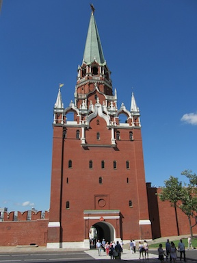 The entrance to the Kremlin, Red Square