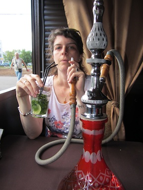 Ending the day with a perfect mohito and a shisha in Moscow