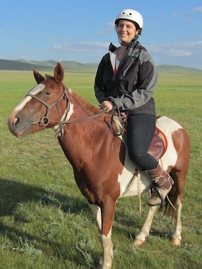 Bronwyn and a Mongolian horse