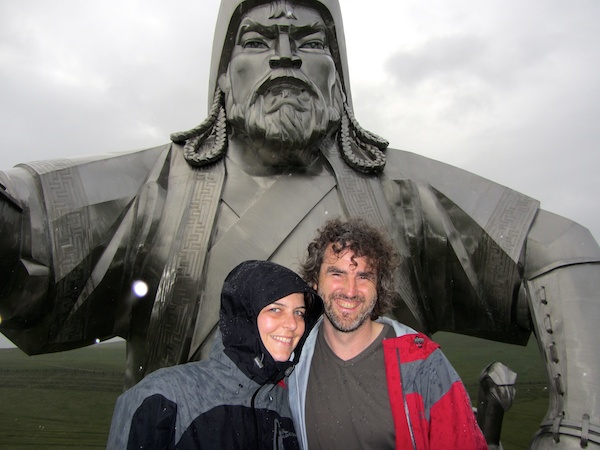 With Chinggiskhan in the rain