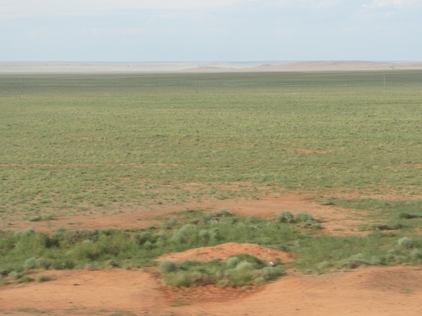The endless steppe, viewed from the Trans-Manchurian Express