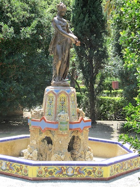 Fountain in Malaga Park