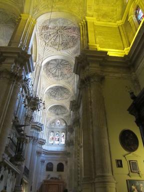 Malaga cathedral knave