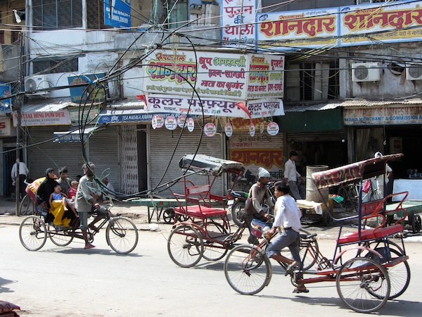 Rickshaw traffic in Old Delhi