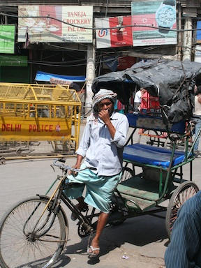 Some rickshaws are tidier than others