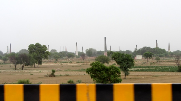 Brick kilns between Delhi and Agra