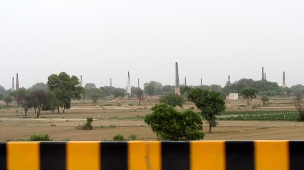 Brick kilns between Delhi and Agra