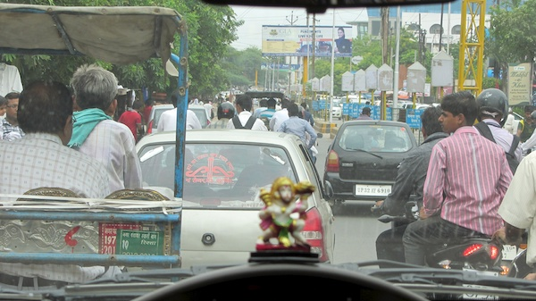 Traffic in Agra