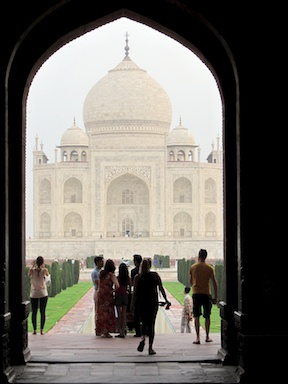 First glimpse of the Taj Mahal through the Royal Gate