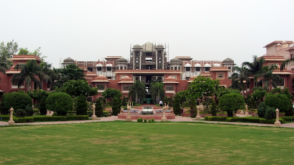 Grounds of the Grand Agra, with the Presidential Suite under construction in the centre
