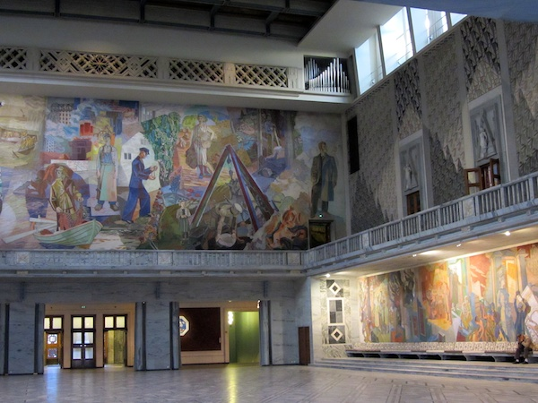 The main hall of Oslo Radhuis