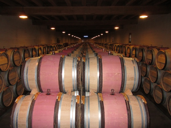 More barrels than you can shake a stick at, at Chateau Figeac