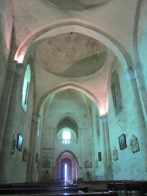 The interior of St Emilion church