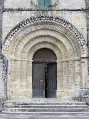 Door to St Emilion's church