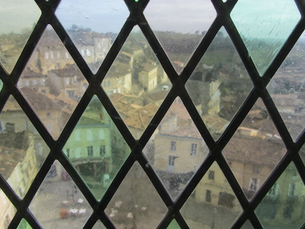 St Emilion through stained glass