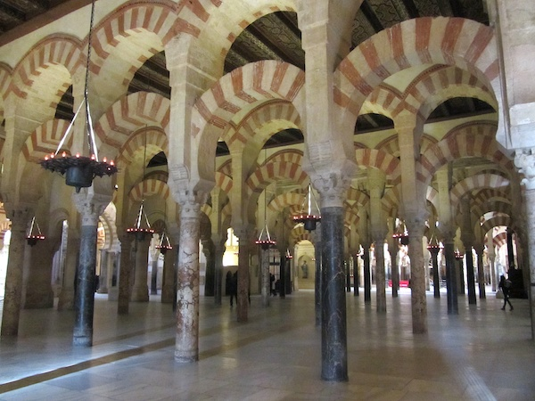 The famous arches of the Mezquita