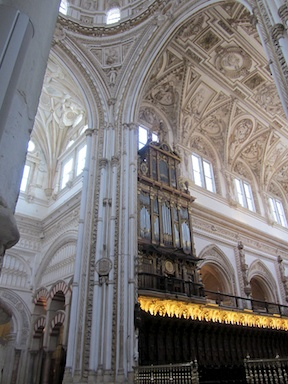 The organ and the choir