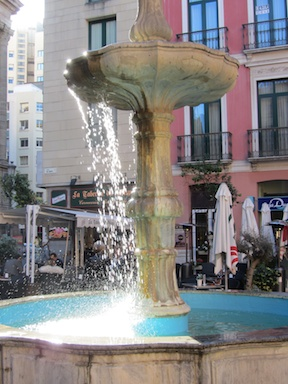 Fountain in the Plaza del Obispo
