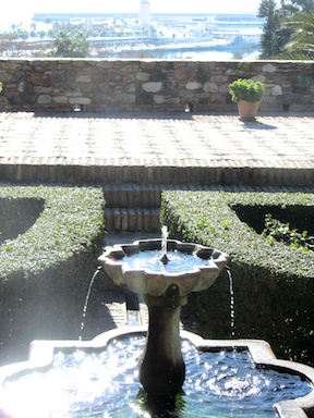 Fountain in the Alcazaba palace