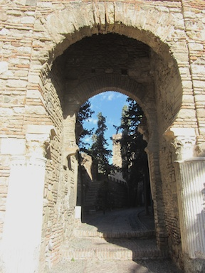 Roman pillars in a Moorish arch