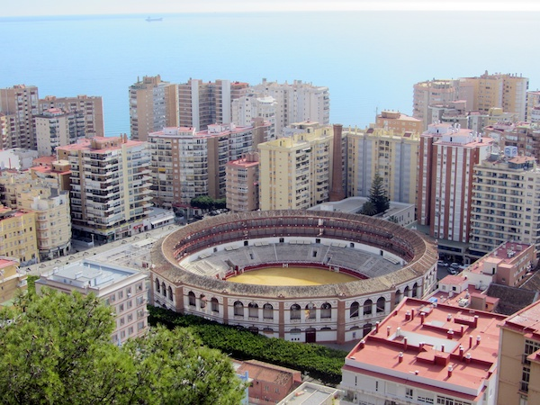 Malaga bull ring from the Gibralfaro