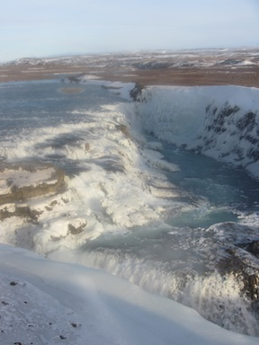 The upper half of Gullfoss