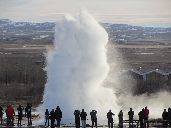 Strokkur does its stuff at Geysir