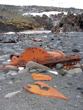 "Wreck of the ""Epine"" on Dritvik Beach"