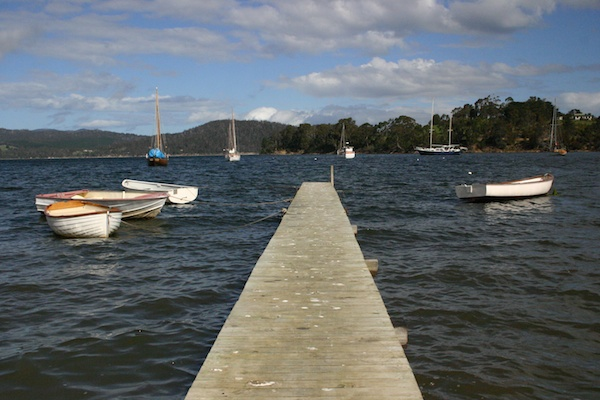 The jetty to our mooring