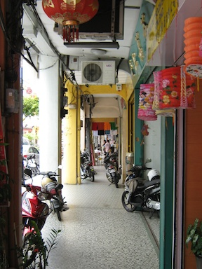 The sidewalks of Penang