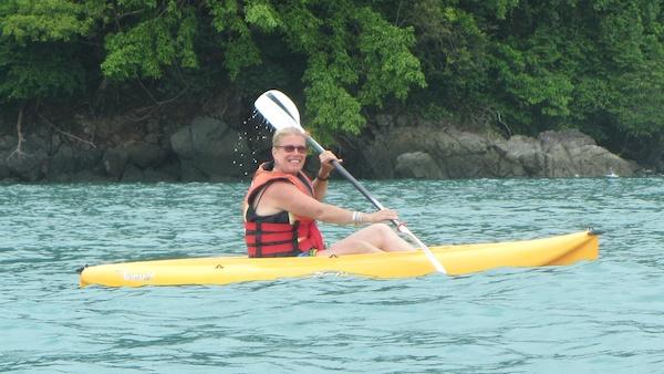 Kim circumnavigating Datai Island