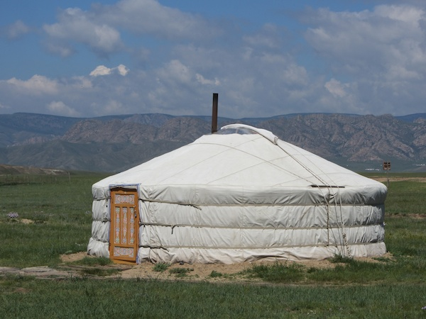 Mongolian yurt, or ger