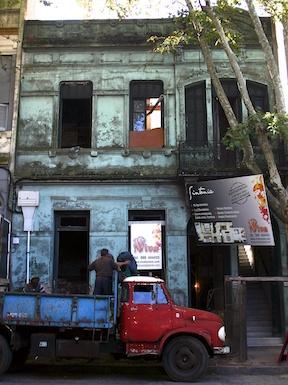 The facade, before...