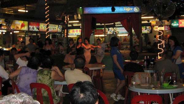 Dancing at the open air market