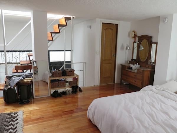 Bedroom area on the mezzanine