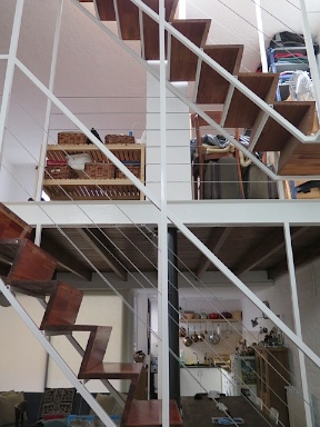 View through the stair from the lounge