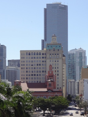 Miami streets from the elevated train