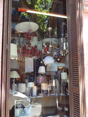 A typical Montevideo light shop