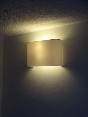 New light fittings, much more classy
