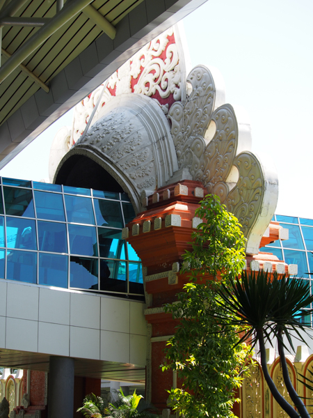 Fusion architecture at Denpasar airport