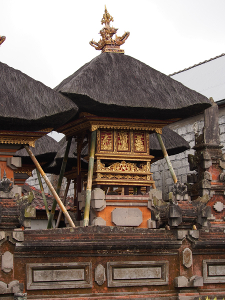 A Hindu home shrine near Ubud