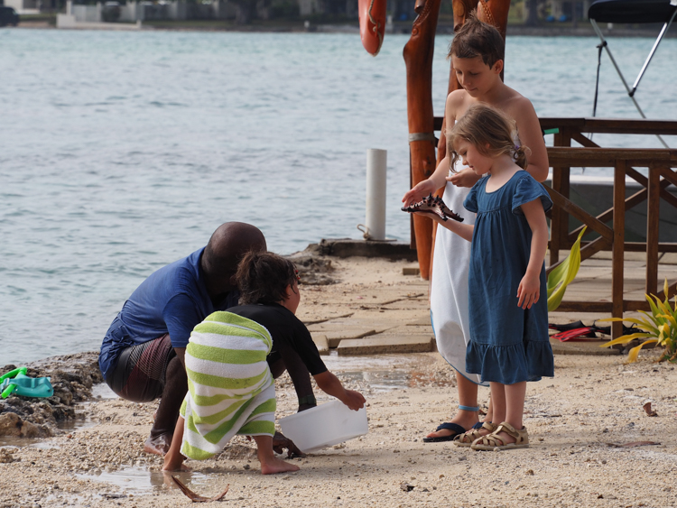 Within minutes of arrival on Erakor Island, Berrima is presented with a large starfish
