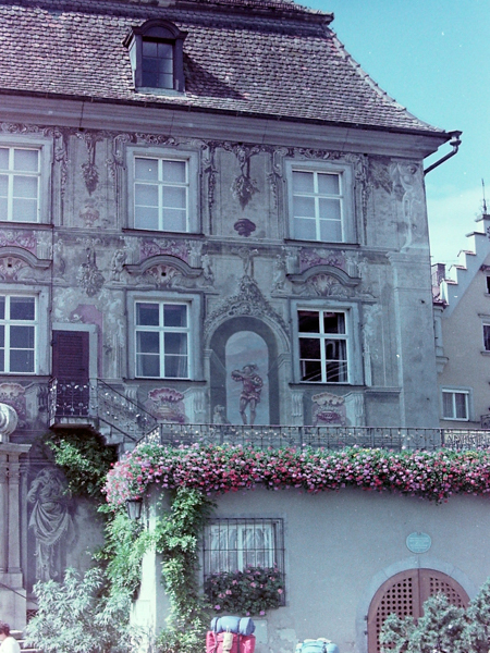 Typical mural on a house in Lindau