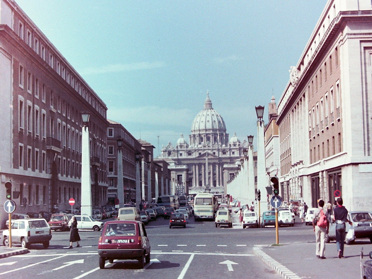 Approaching the Vatican along the Via della Conciliazione